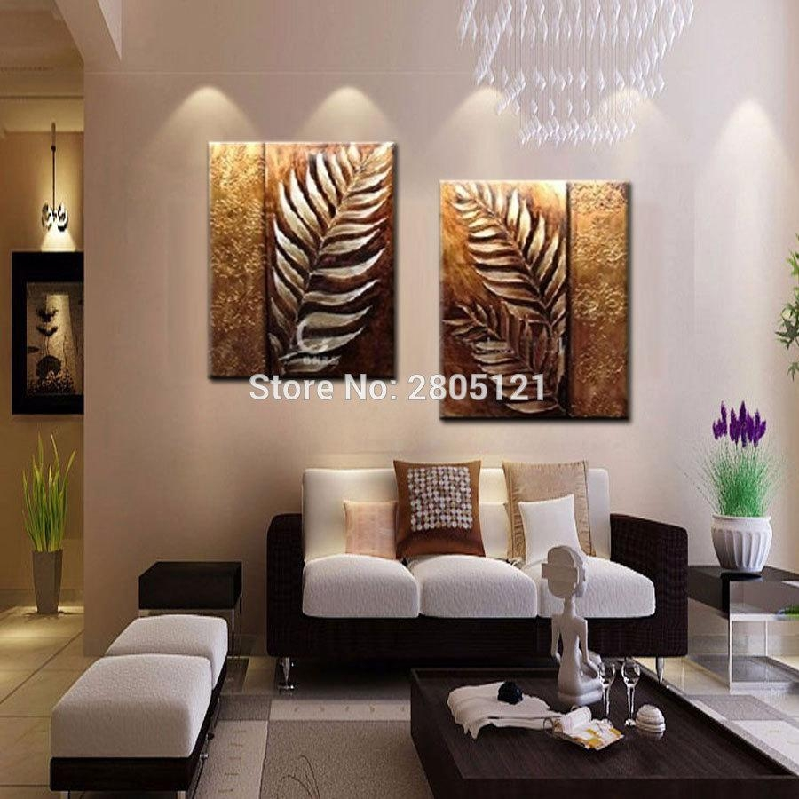 Online Get Cheap Silver Leaf Wall Art Aliexpress | Alibaba Group Intended For Silver And Gold Wall Art (View 17 of 20)