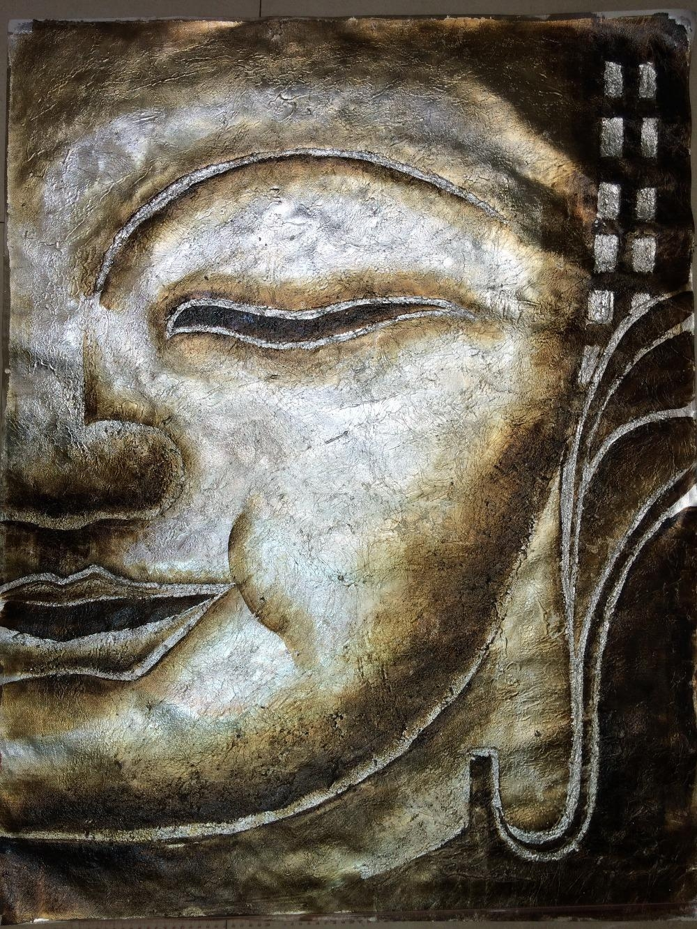 Online Get Cheap Silver Painting  Aliexpress | Alibaba Group Pertaining To Silver Buddha Wall Art (Image 14 of 20)