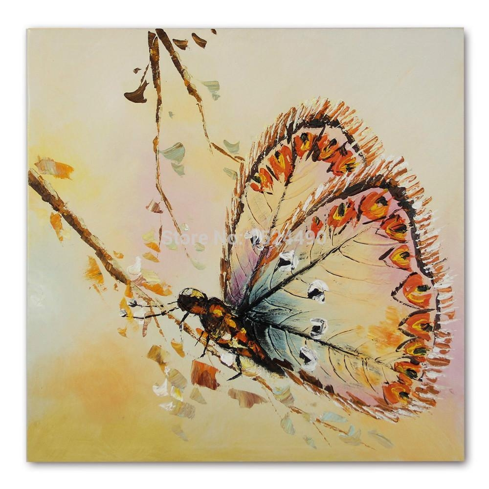 Online Get Cheap Simple Butterfly Pictures  Aliexpress With Butterfly Canvas Wall Art (Image 15 of 20)