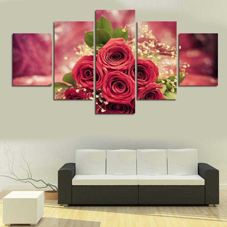Online Get Cheap Single Red Rose Canvas Wall Art  Aliexpress With Rose Canvas Wall Art (Image 12 of 20)