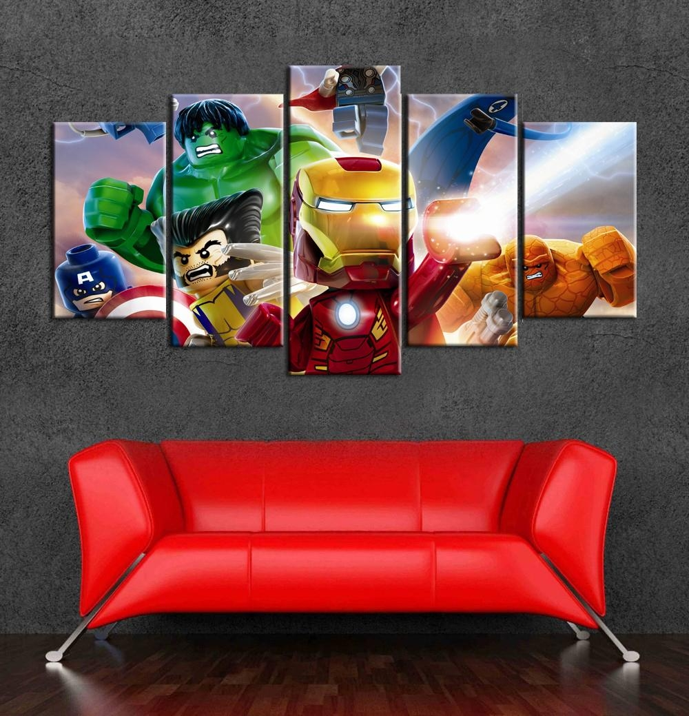 Online Get Cheap Superhero Canvas Art  Aliexpress | Alibaba Group For Superhero Wall Art For Kids (Image 8 of 20)