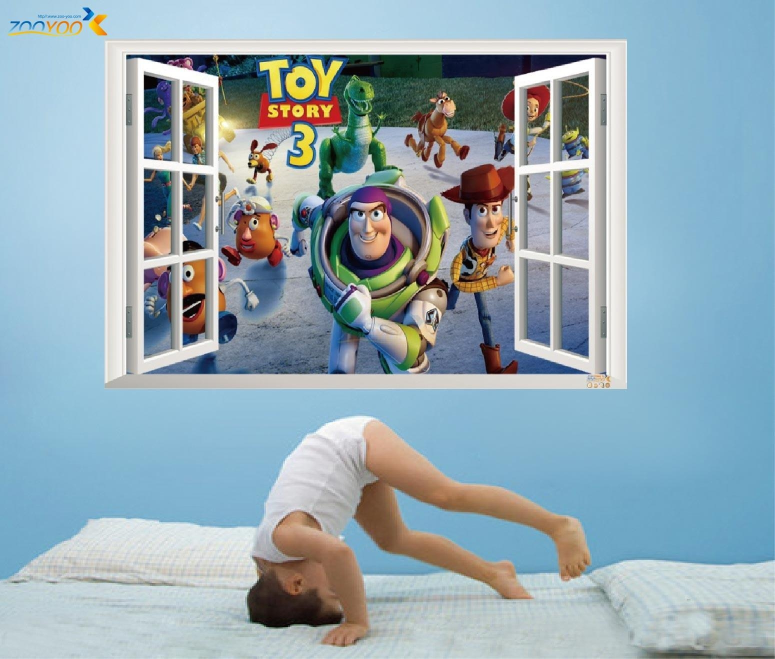 Online Get Cheap Toy Story Decals Aliexpress | Alibaba Group Pertaining To Toy Story Wall Art (View 5 of 20)
