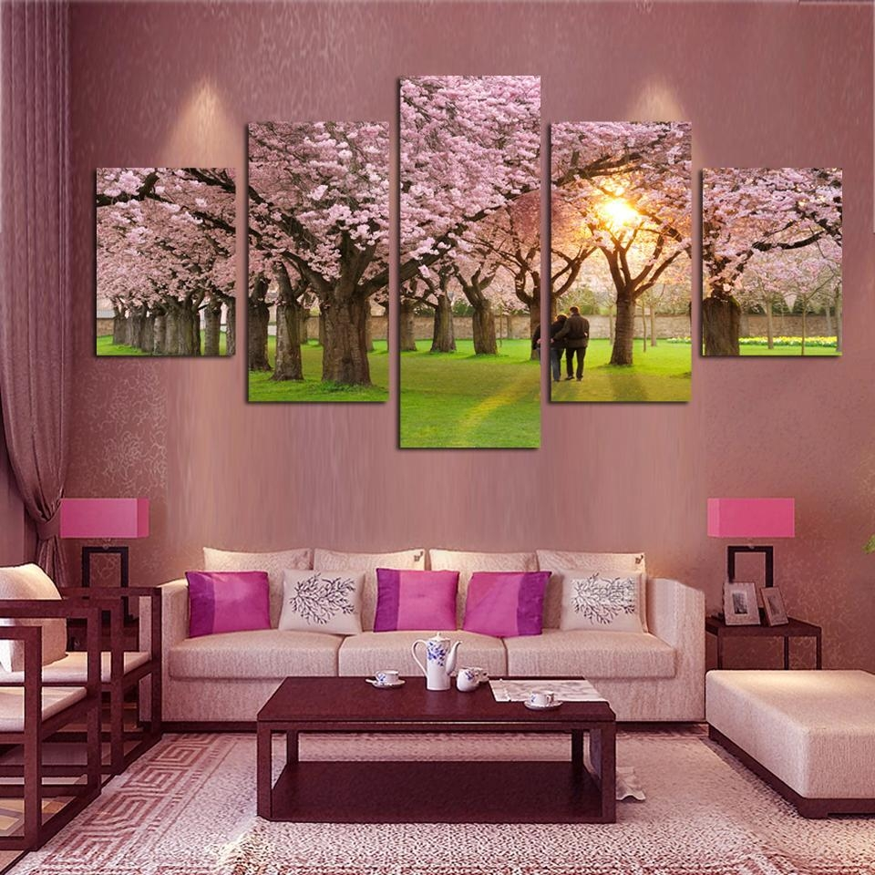Online Get Cheap Tree Wall Art Aliexpress | Alibaba Group In Red Cherry Blossom Wall Art (View 19 of 20)