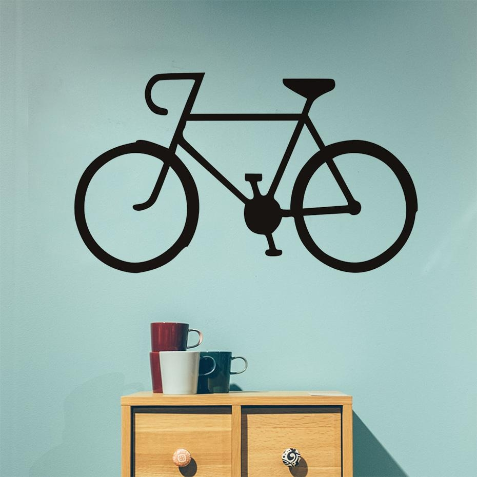 Online Get Cheap Vintage Bike Stickers  Aliexpress | Alibaba Group With Regard To Cycling Wall Art (Image 15 of 20)
