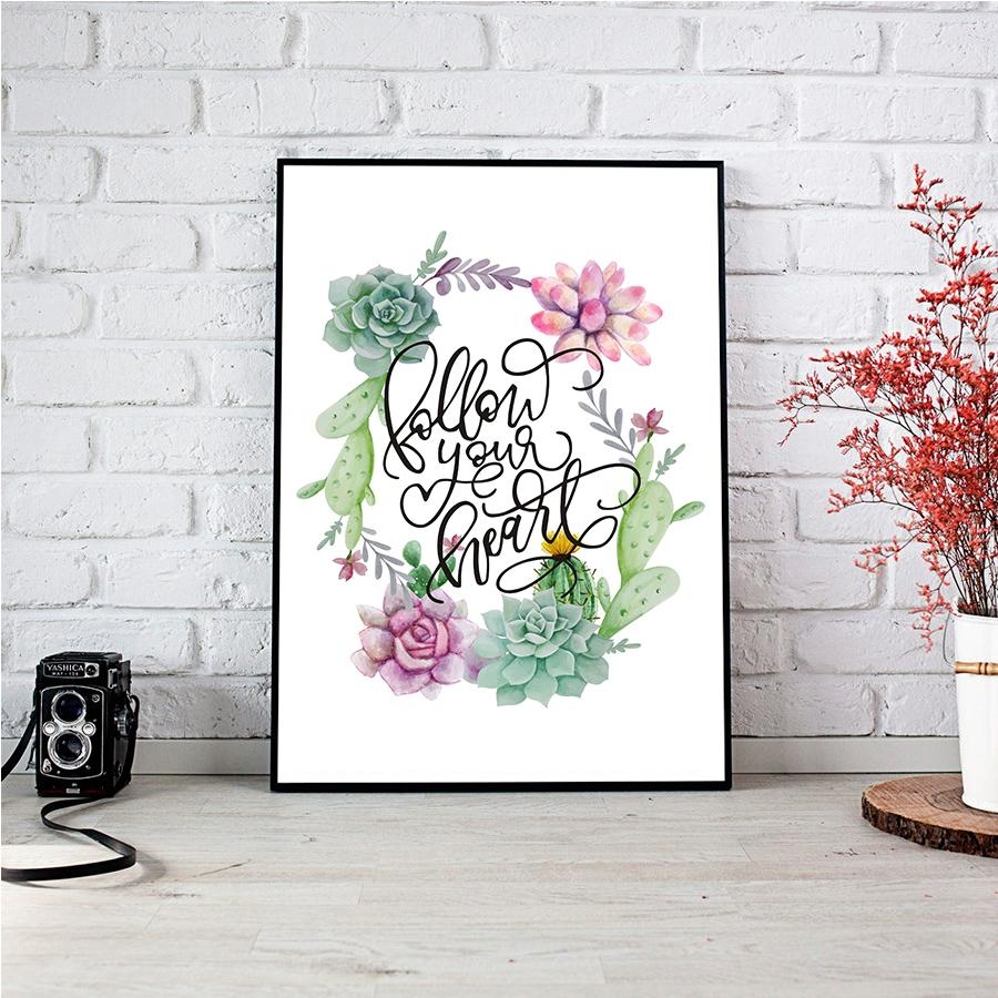 Online Get Cheap Wall Art Leaves  Aliexpress | Alibaba Group Intended For Floral & Plant Wall Art (Image 15 of 20)