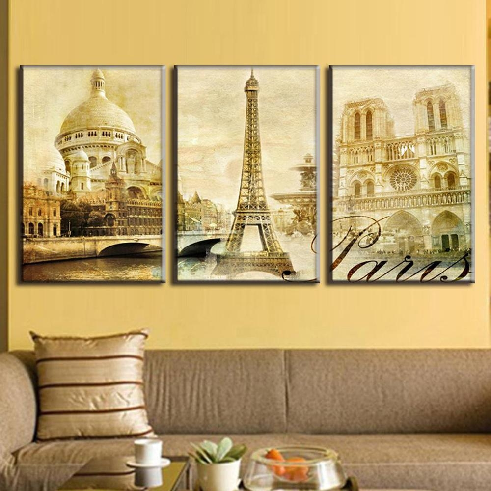 Online Get Cheap Wall Art Paris  Aliexpress | Alibaba Group With Cheap Wall Art Canvas Sets (Image 12 of 20)