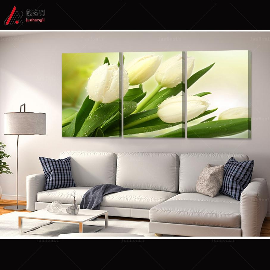 Online Get Cheap Wall Art Tulip  Aliexpress | Alibaba Group Throughout Large Green Wall Art (Image 12 of 20)
