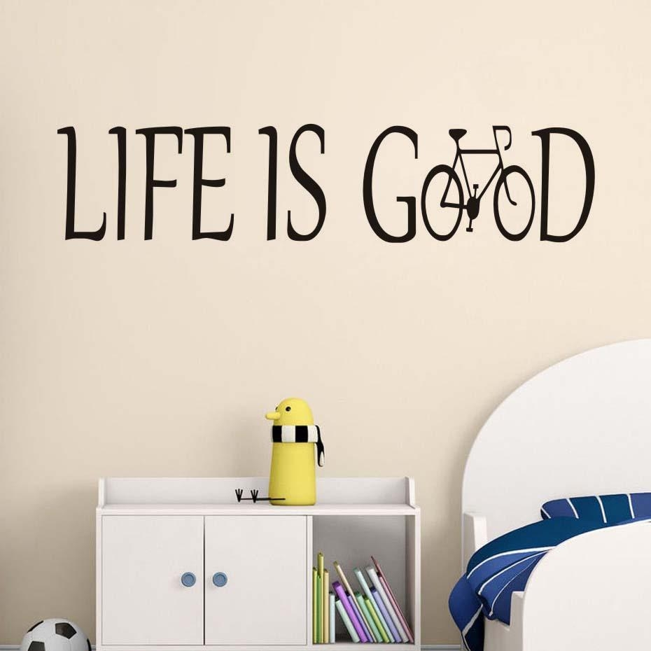 Online Get Cheap Wall Letter Designs  Aliexpress | Alibaba Group For Life Is Good Wall Art (Image 15 of 20)
