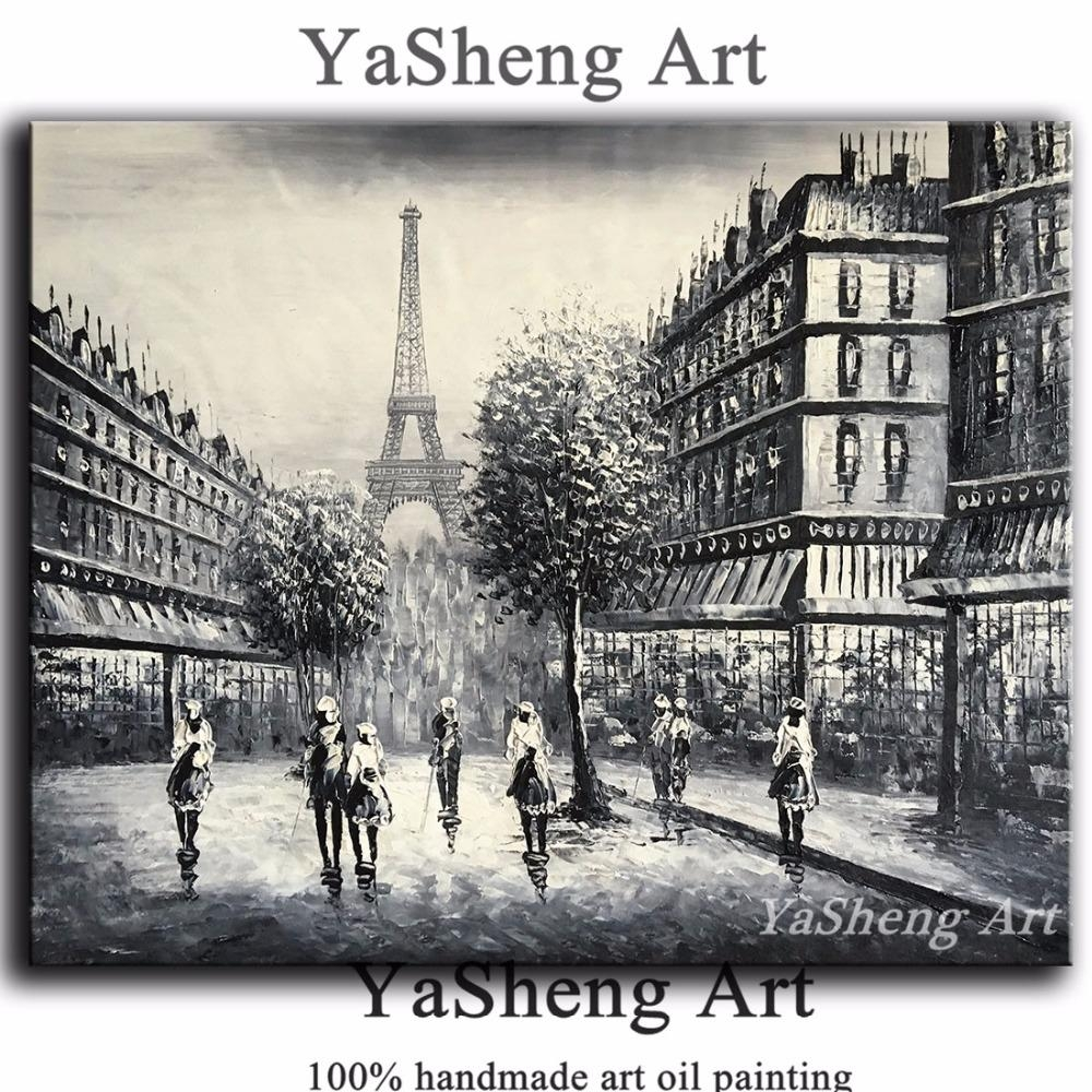 Online Get Cheap Wall Picture Paris Black White  Aliexpress Throughout Black And White Paris Wall Art (Image 8 of 20)