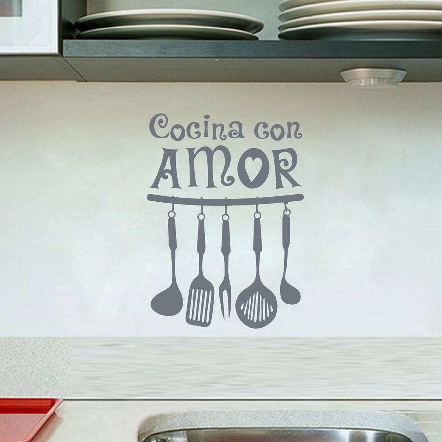 Online Get Cheap Wall Stickers Cocina Decor  Aliexpress Within Cucina Wall Art Decors (Image 18 of 20)