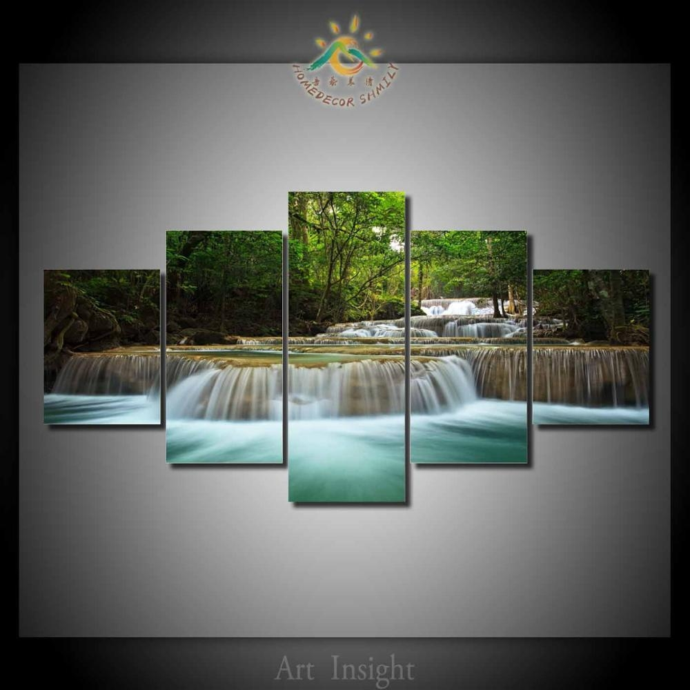 Online Get Cheap Waterfalls Wall Art  Aliexpress | Alibaba Group Within Waterfall Wall Art (Image 12 of 20)