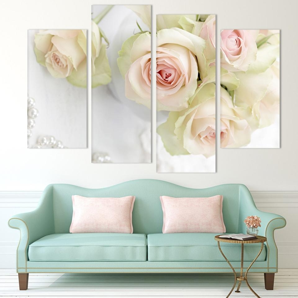 Online Get Cheap White Rose Canvas Print  Aliexpress | Alibaba For Rose Canvas Wall Art (Image 13 of 20)