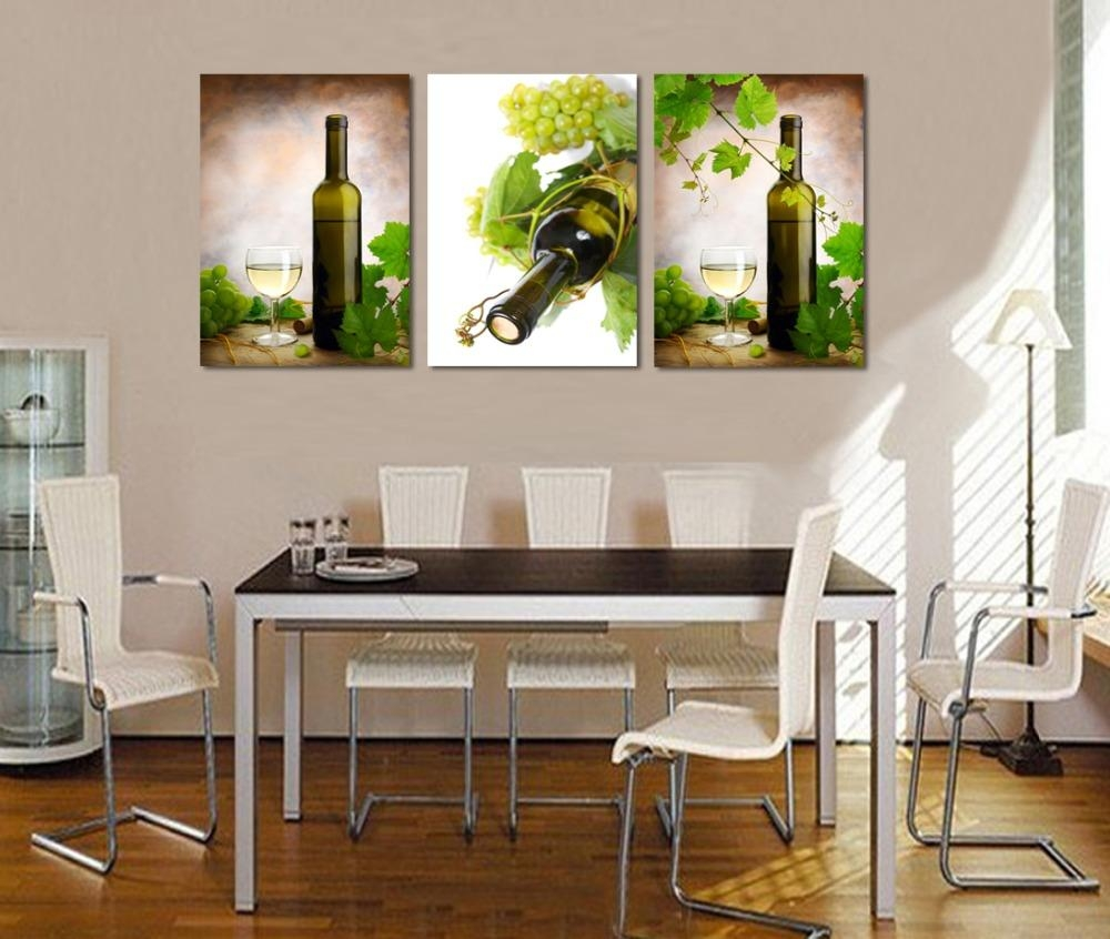 Online Get Cheap Wine Bottle Kitchen Decor Grapes Aliexpress Intended For Grape Wall Art (View 18 of 20)