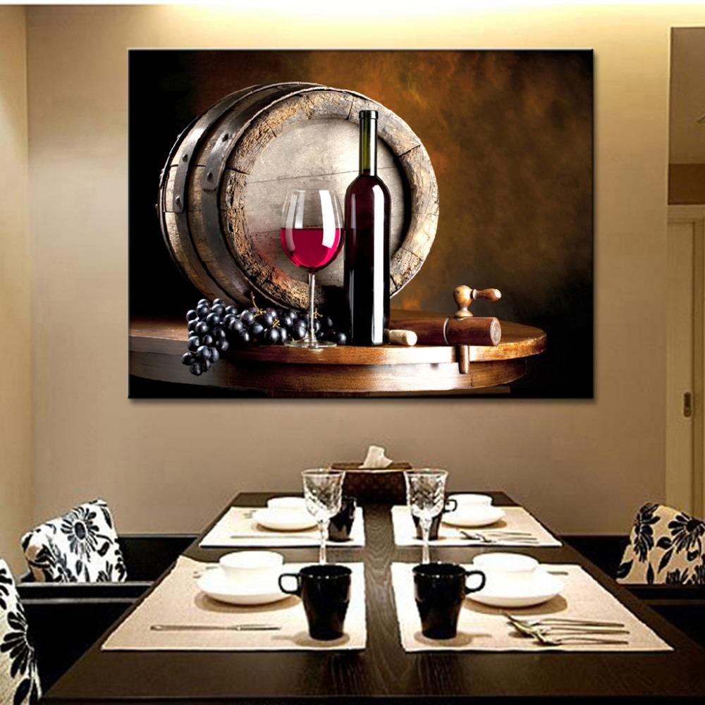 Online Get Cheap Wine Wall Art  Aliexpress | Alibaba Group With Regard To Kitchen And Dining Wall Art (Image 19 of 20)