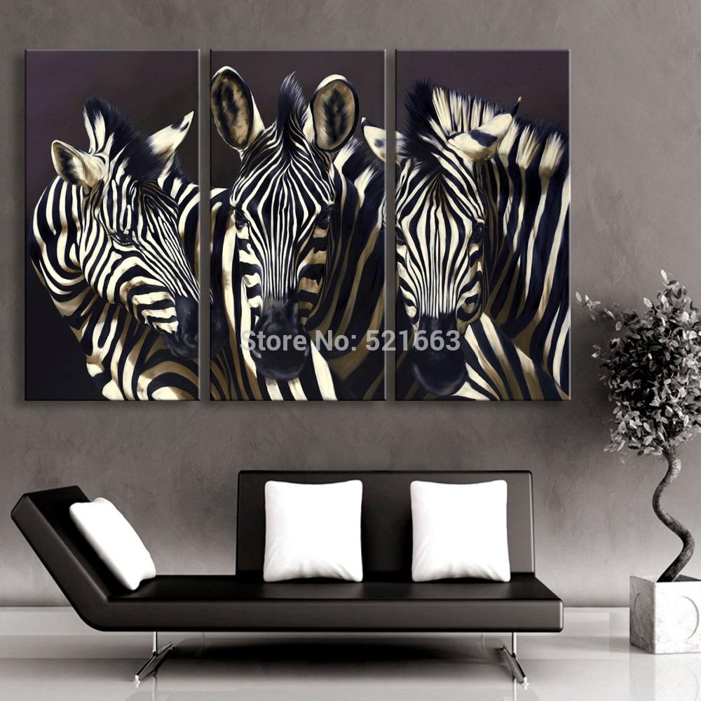 Online Get Cheap Zebra Print Decor  Aliexpress | Alibaba Group Regarding Zebra Wall Art Canvas (Image 10 of 20)