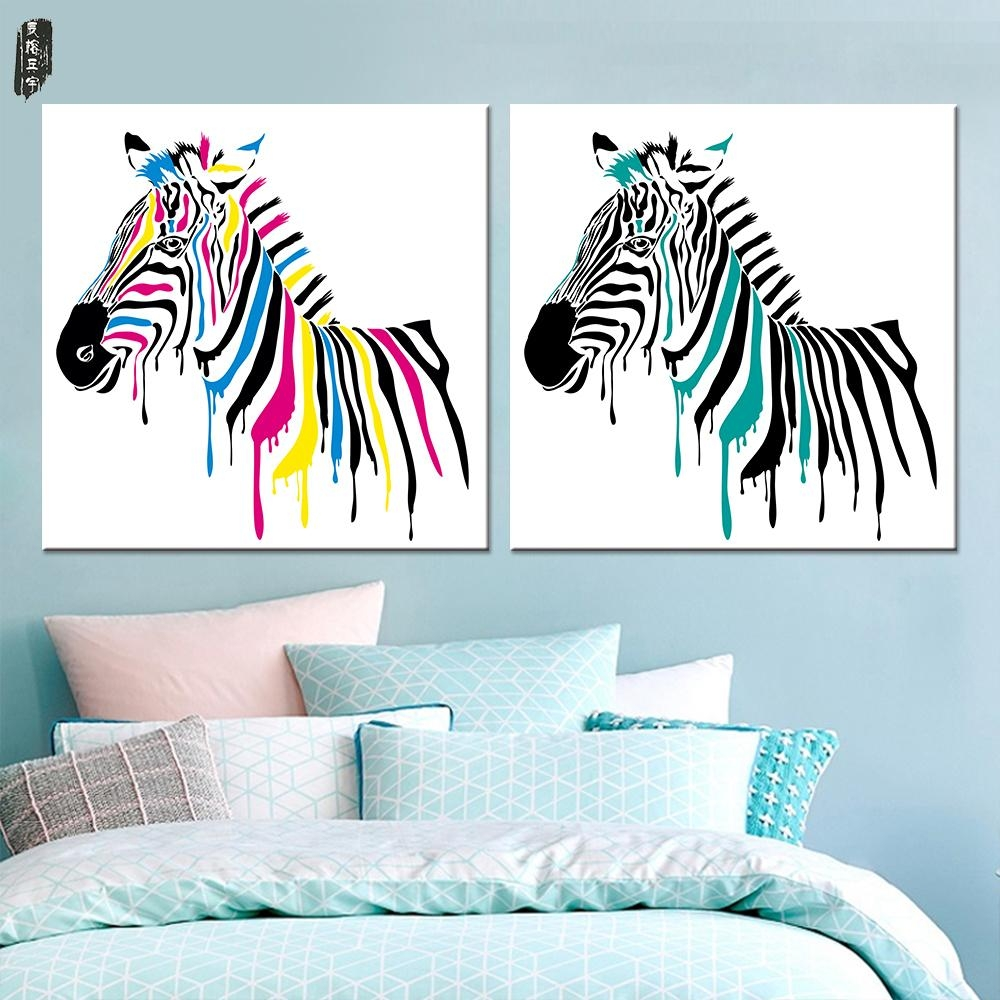Online Get Cheap Zebra Wall Art  Aliexpress | Alibaba Group Within Zebra Wall Art Canvas (Image 11 of 20)