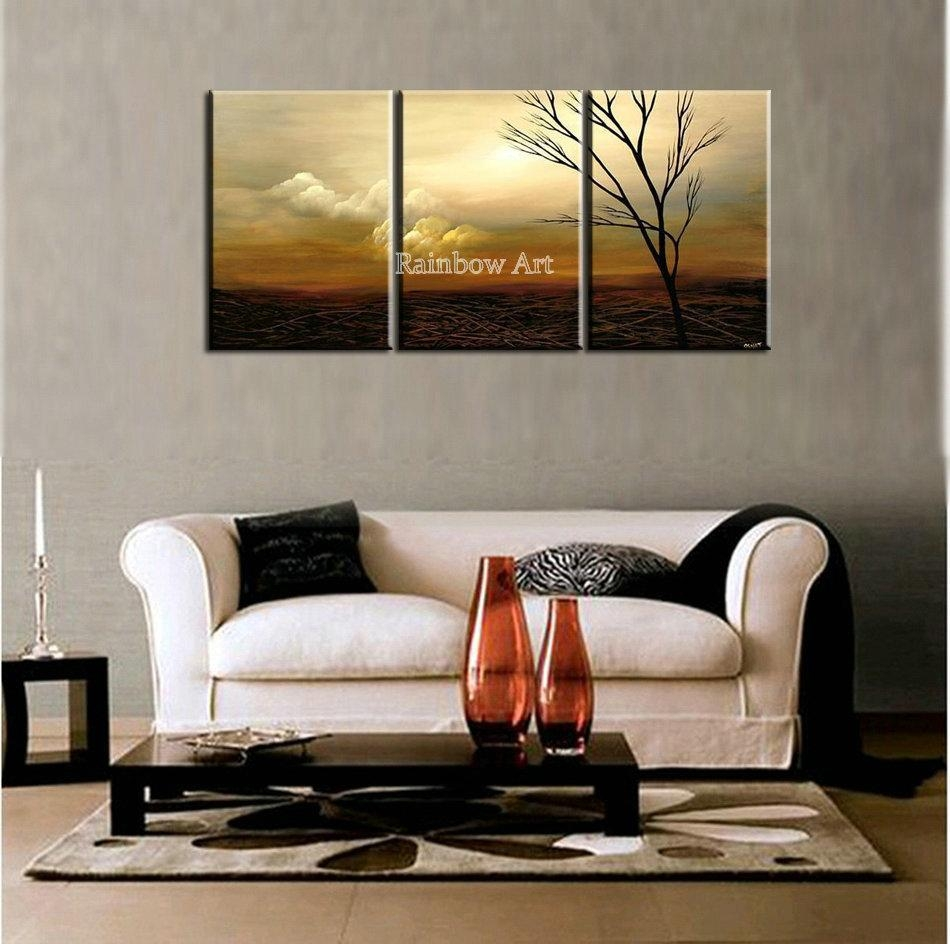 Online Shop 3 Piece Scenery Drawing Modern Picture Wall Art Throughout 3 Piece Abstract Wall Art (View 12 of 20)