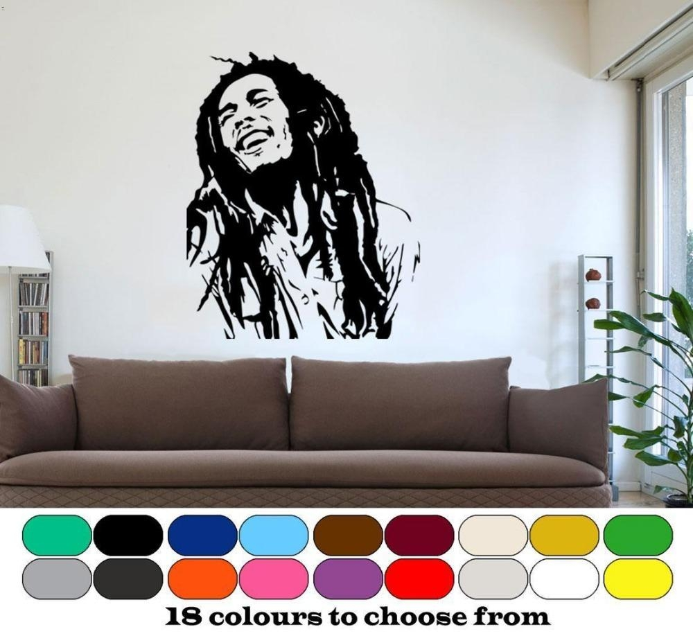 Online Shop Classic Bob Marley Wall Art Graphic Vinyl Mural With Regard To Bob Marley Wall Art (View 6 of 20)
