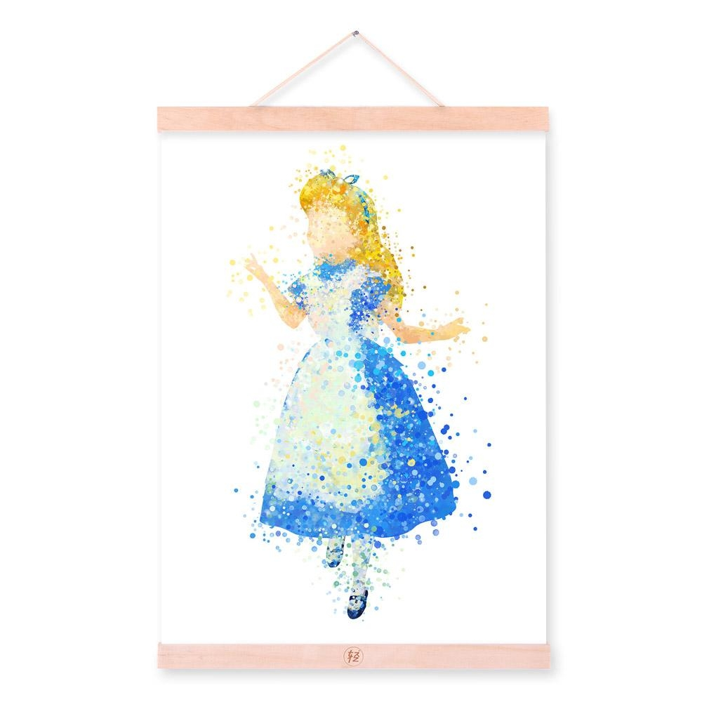 Online Shop Disney Princess Snow White Ariel Aurora Watercolor Throughout Disney Princess Framed Wall Art (Image 18 of 20)