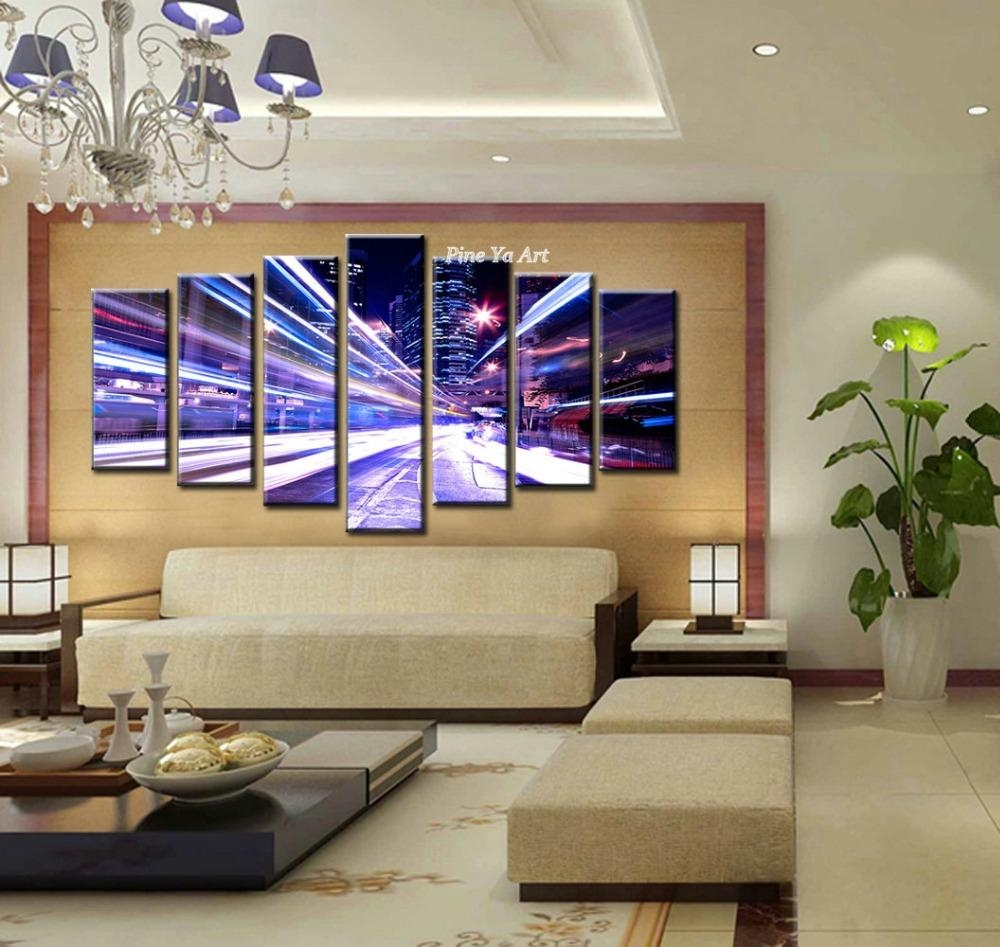 Online Shop Large 7 Piece Canvas Prints Decorative New York City Within 7 Piece Canvas Wall Art (Image 12 of 22)