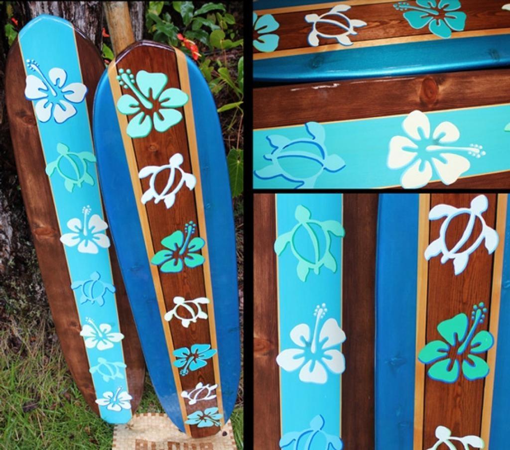 Original Made In Hawaii Decorative Surfboards, Decorative Surf Art With Decorative Surfboard Wall Art (Image 11 of 20)