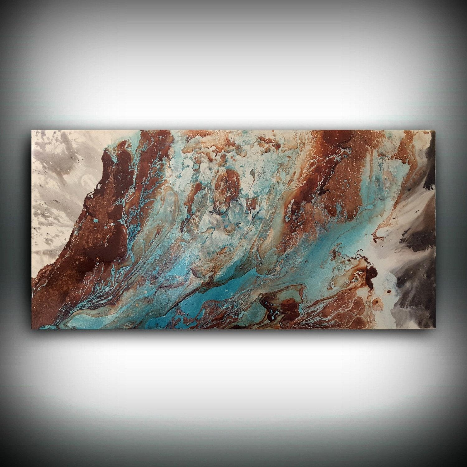 Original Painting Art Painting Acrylic Painting Abstract Inside Large Copper Wall Art (View 18 of 20)