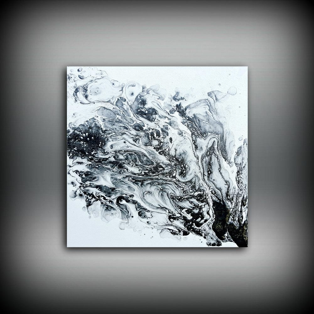 Original Painting Art Painting Acrylic Painting Abstract With Black White And Red Wall Art (Image 15 of 20)