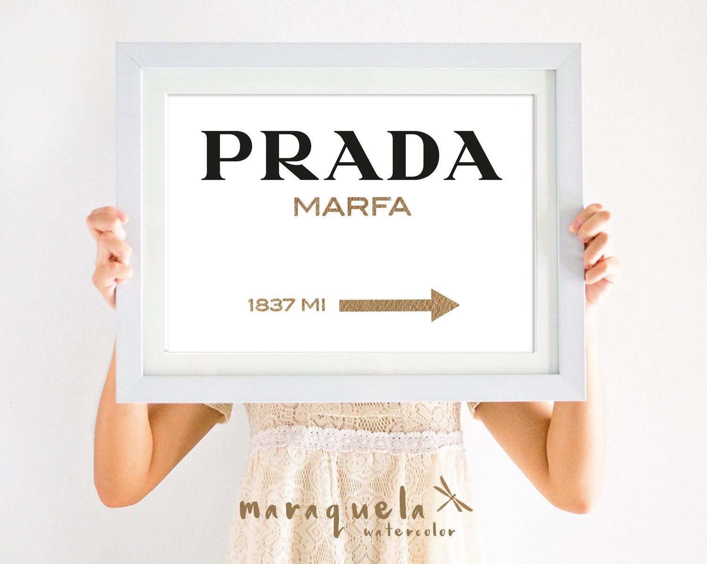 Original Prada Marfa Watercolor Golden Letters Inspired Wall In Prada Marfa Wall Art (Image 12 of 20)