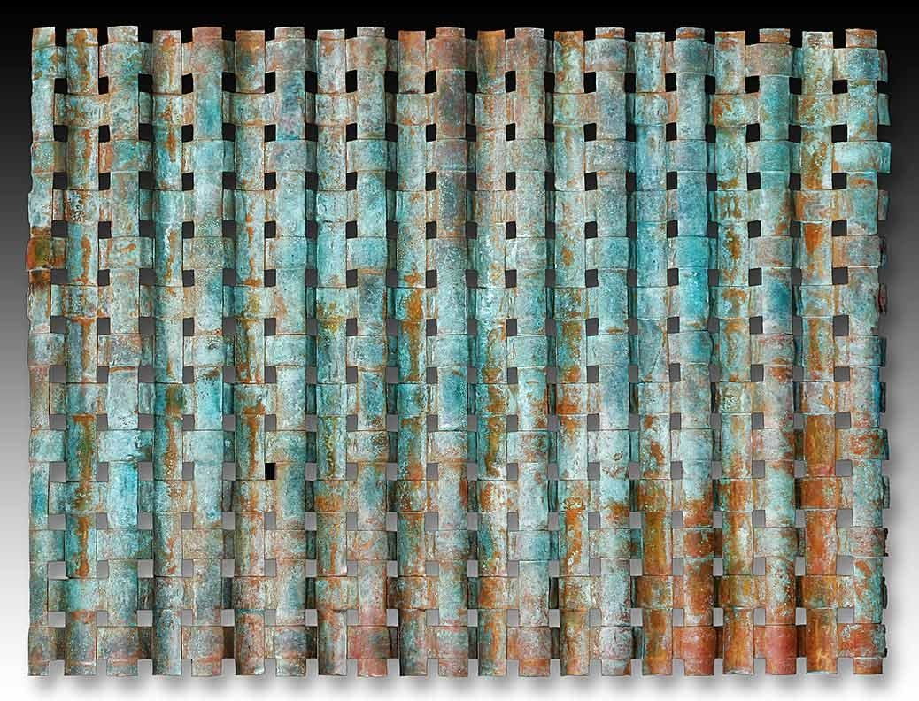 Outdoor Metal Wall Art Weaving > Outdoor Copper Wall Art > Woven Metal For Copper Outdoor Wall Art (Image 15 of 20)