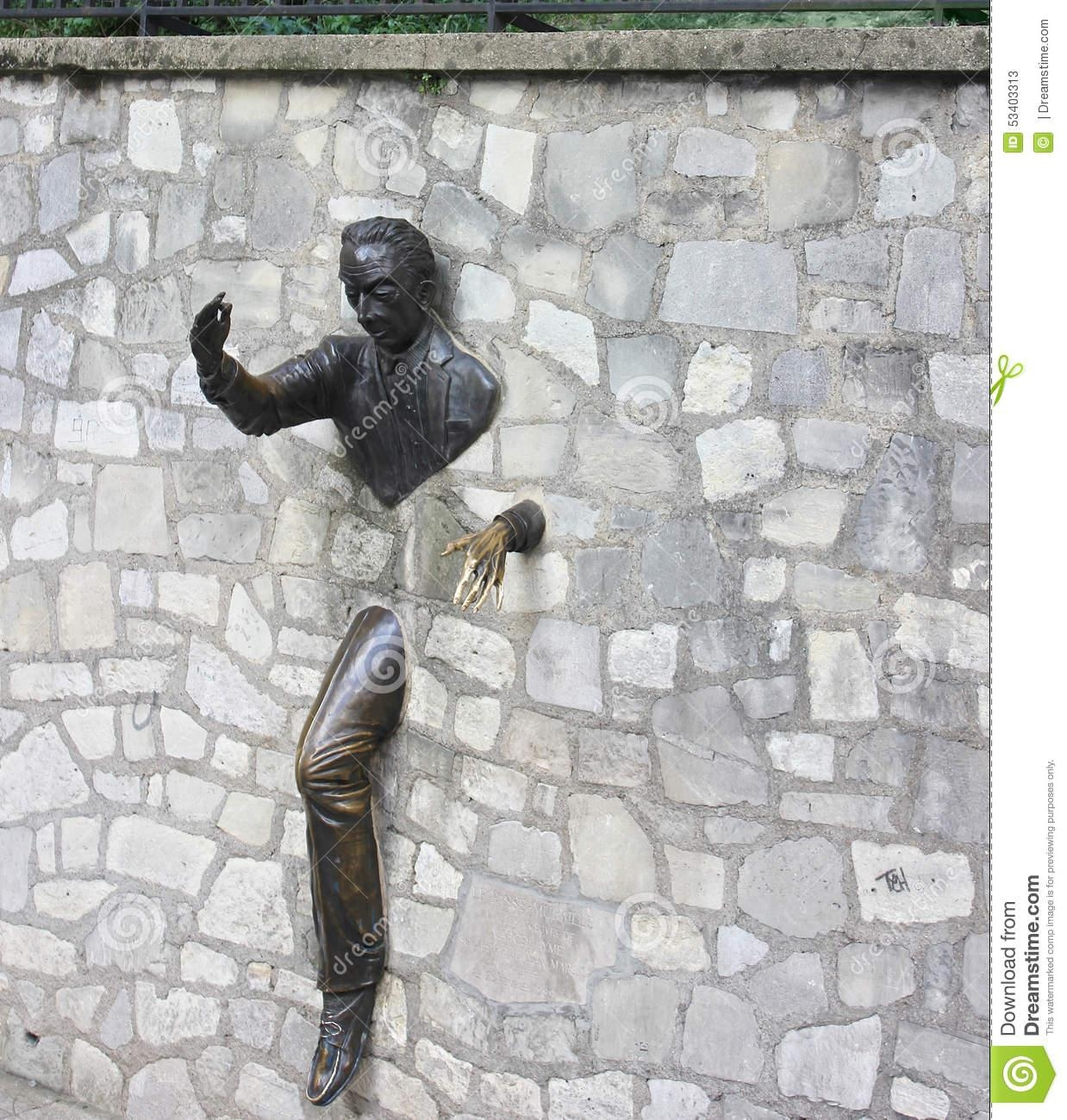 Outdoor Rock Wall Sculpture, Montmartre, Paris Stock Photo – Image Inside Outdoor Wall Sculpture Art (Image 9 of 20)
