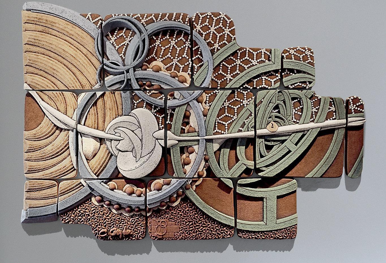 Outdoor Wall Decor Ceramic | Trellischicago Throughout Outdoor Wall Sculpture Art (Image 10 of 20)