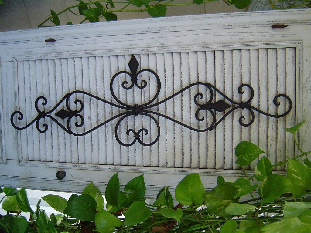 Outdoor Wall Decor Wrought Iron Pictures – Home Furniture Ideas Inside Faux Wrought Iron Wall Decors (Image 16 of 20)