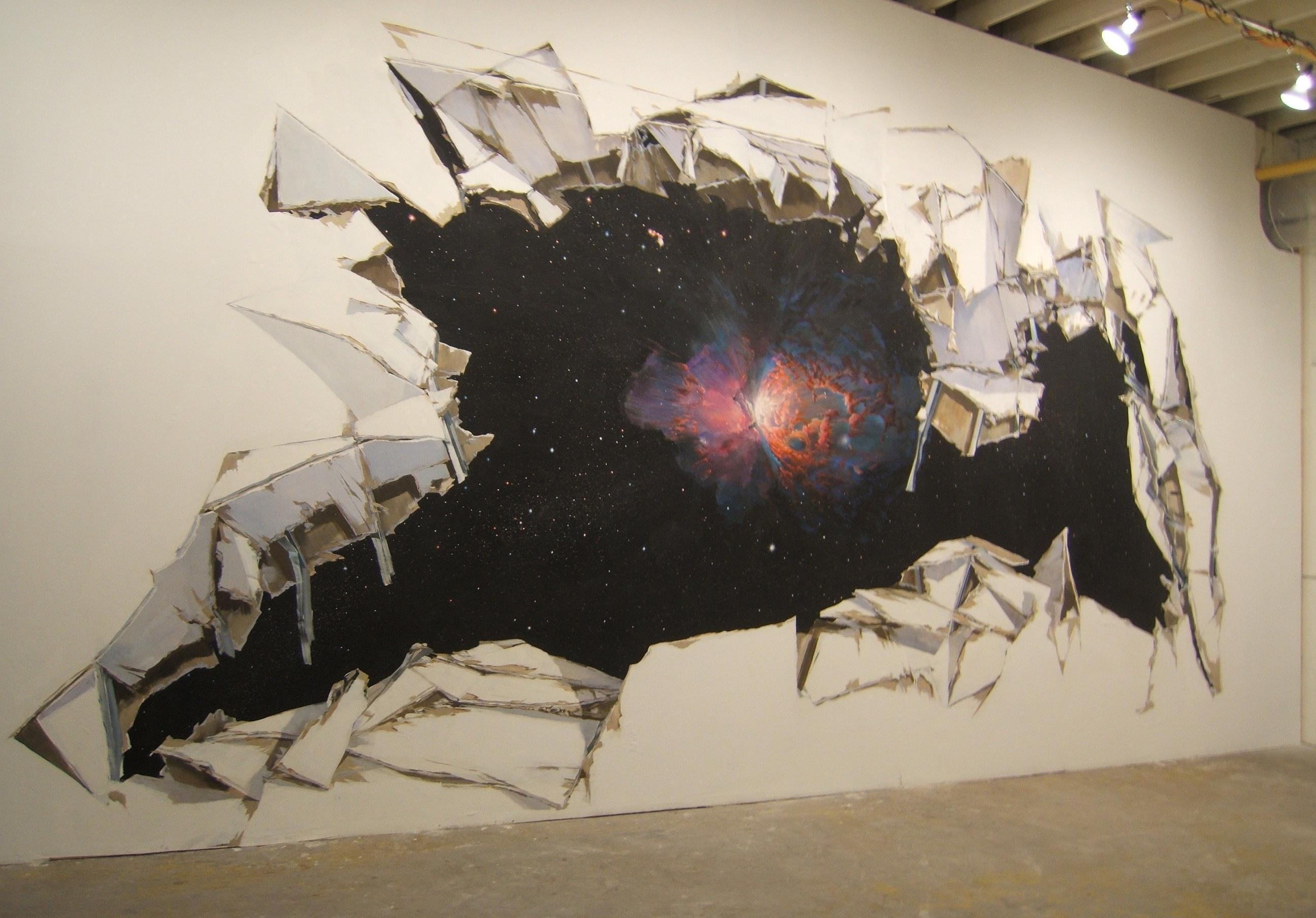Wall art ideas outer space wall art explore 11 of 20 for Outer painting design