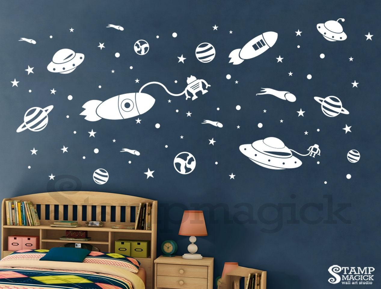 Outer Space Wall Decal, K321  Stampmagick Wall Decals In Outer Space Wall  Art (