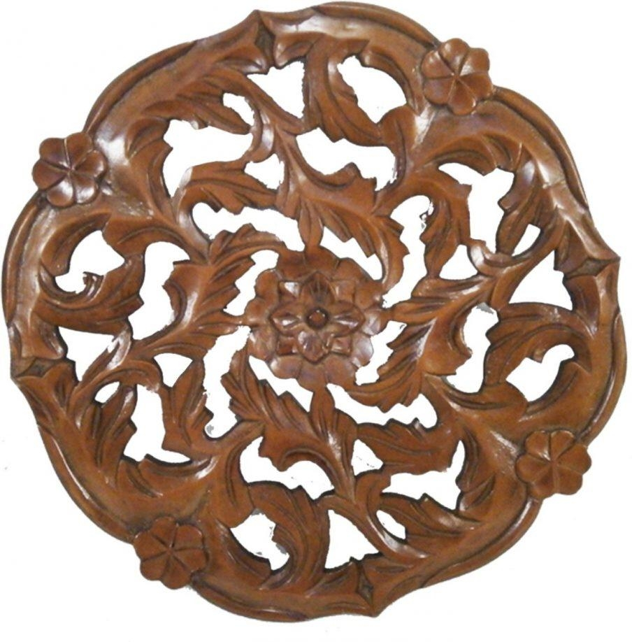 Outstanding Large Round Wood Wall Art Golmaalshop Round Wooden Regarding Large Round Wall Art (View 20 of 20)