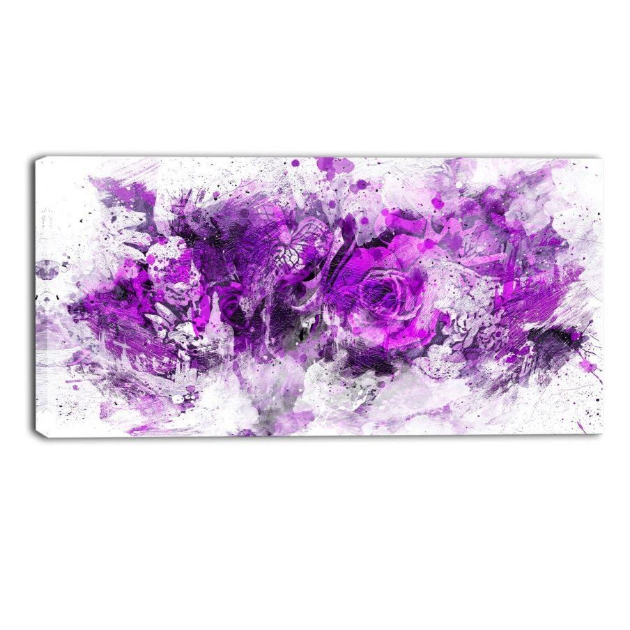 Outstanding Purple Canvas Wall Art Uk Home Decor Piece Canvas Throughout Butterfly Canvas Wall Art (Image 16 of 20)
