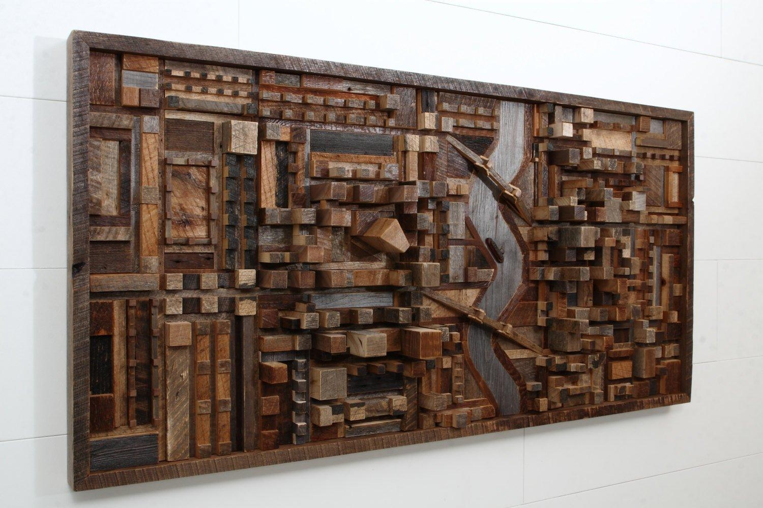 Outstanding Reclaimed Wood Wall Art – Style Motivation Regarding Wall Art On Wood (Image 7 of 20)