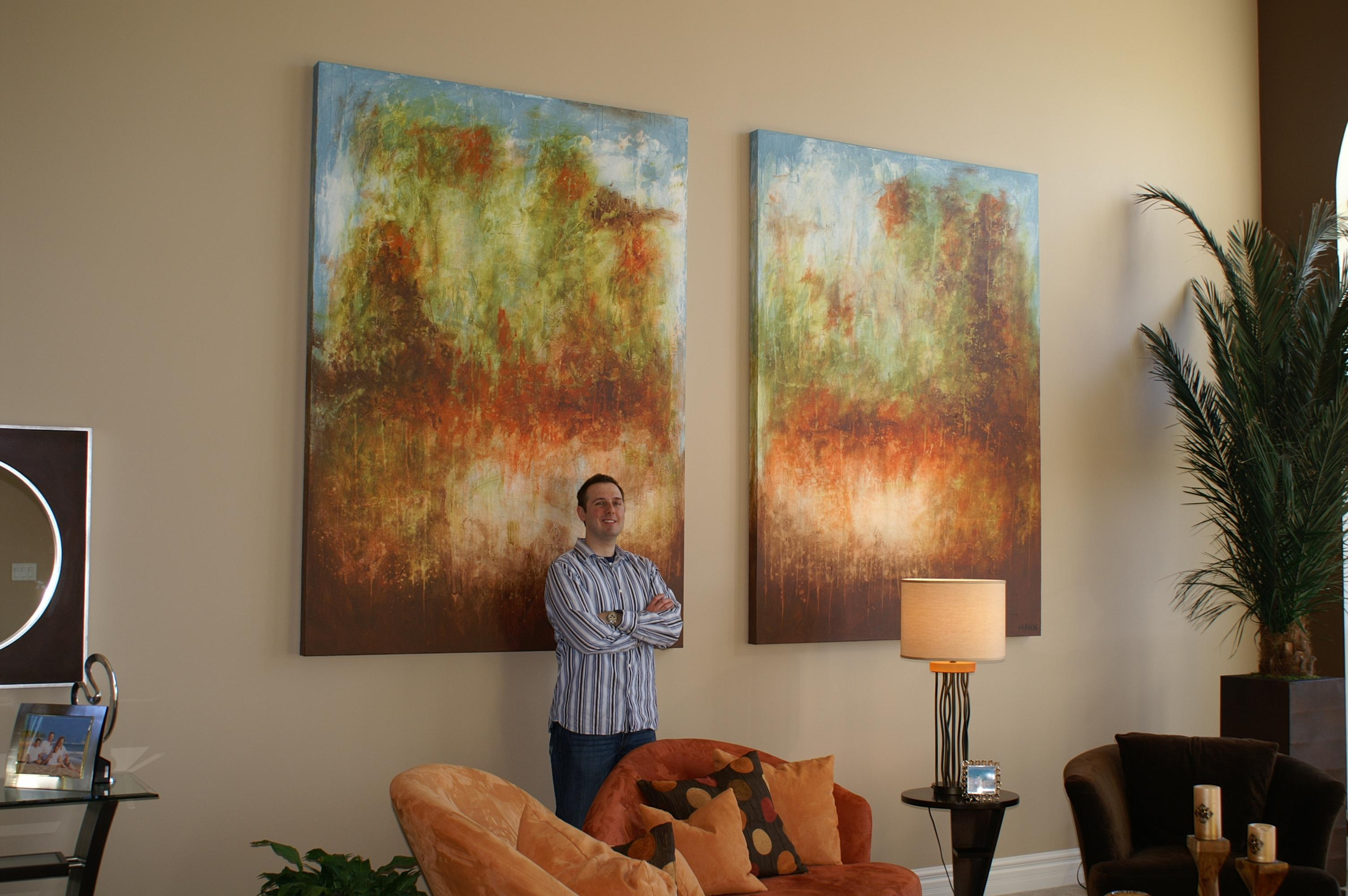 Oversized Commissioned Painting For A Two Story Great Room – Andy For Oversized Abstract Wall Art (Image 13 of 20)
