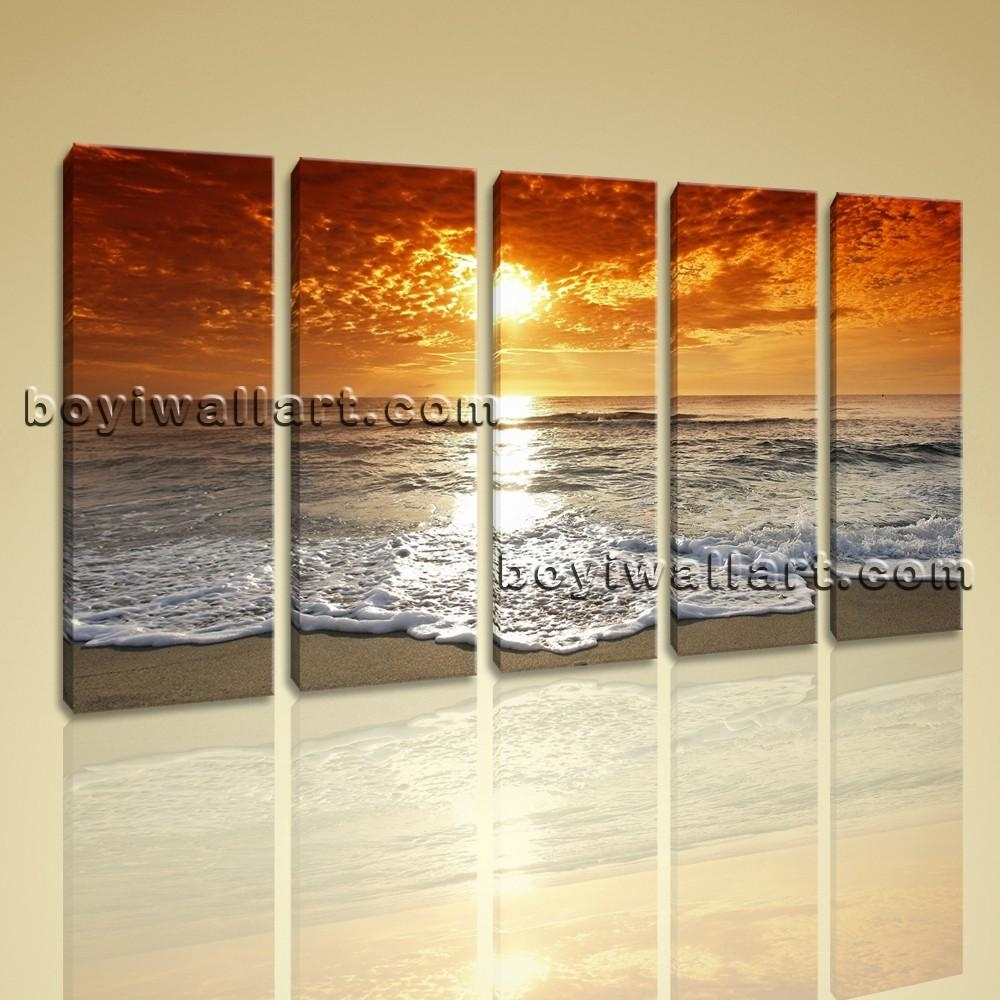 Oversized Seascape Painting Large Contemporary Wall Art Beach And Within Oversized Modern Wall Art (View 15 of 20)