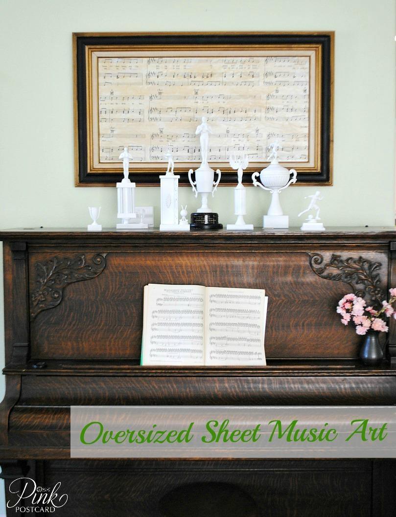 Oversized Sheet Music Art – Noble Vintage Intended For Oversized Framed Art (View 10 of 20)