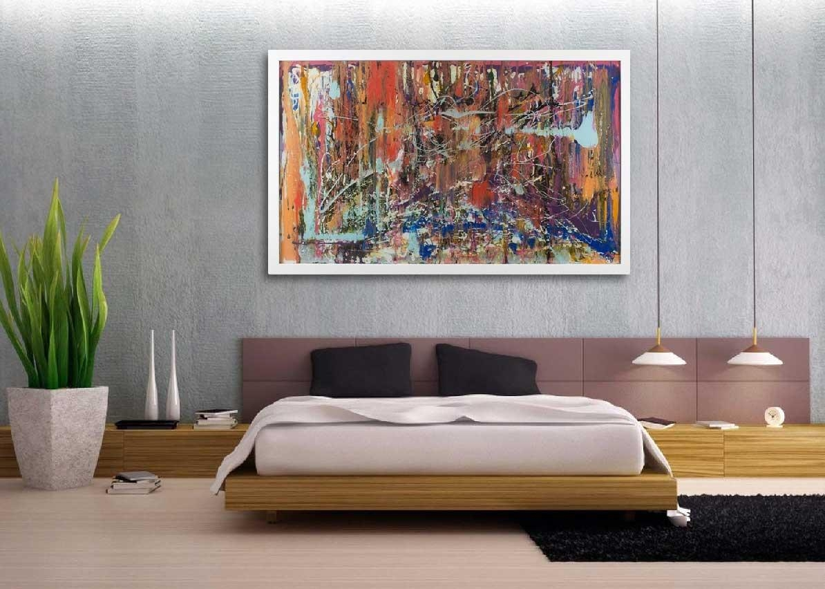 Oversized Wall Art Contemporary Abstract Canvas | Home Interior Intended For Oversized Wall Art Contemporary (Image 12 of 20)