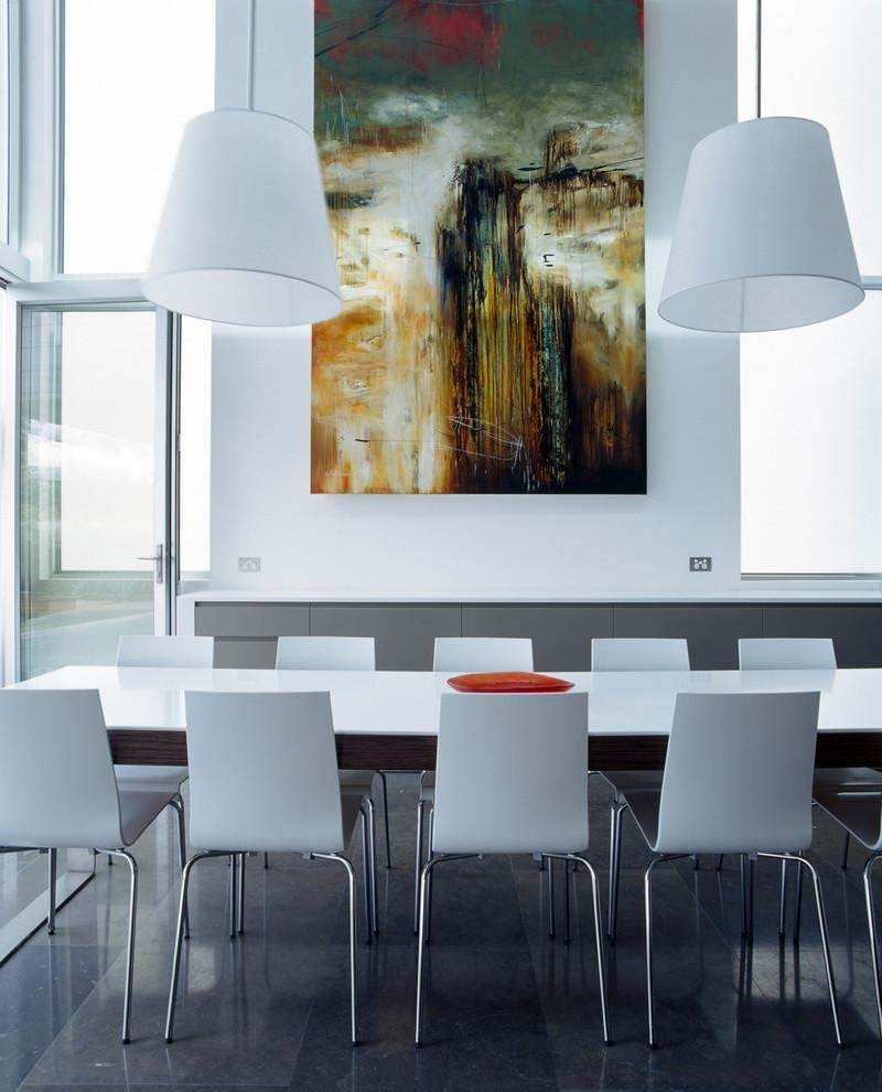 Oversized Wall Art Dining Room Modern With Coloured Kitchen Corian With Modern Wall Art For Dining Room (Image 19 of 20)