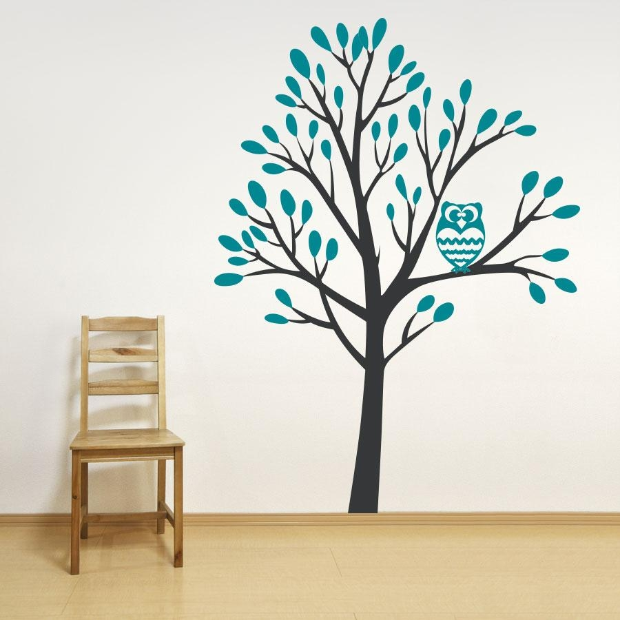 Owl In A Tree Wall Decal With Regard To Owl Wall Art Stickers (View 19 of 20)