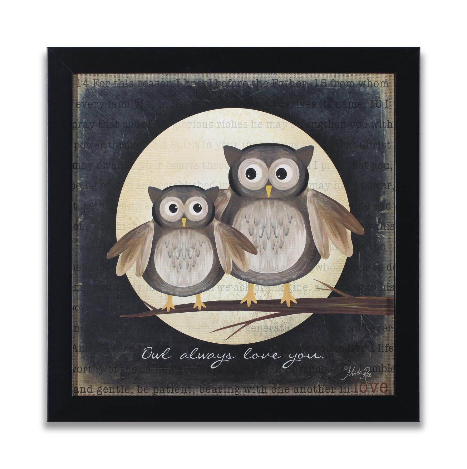 Owl Love You Framed Wall Art | Hom Furniture | Furniture Stores In Regarding Owl Framed Wall Art (View 15 of 20)