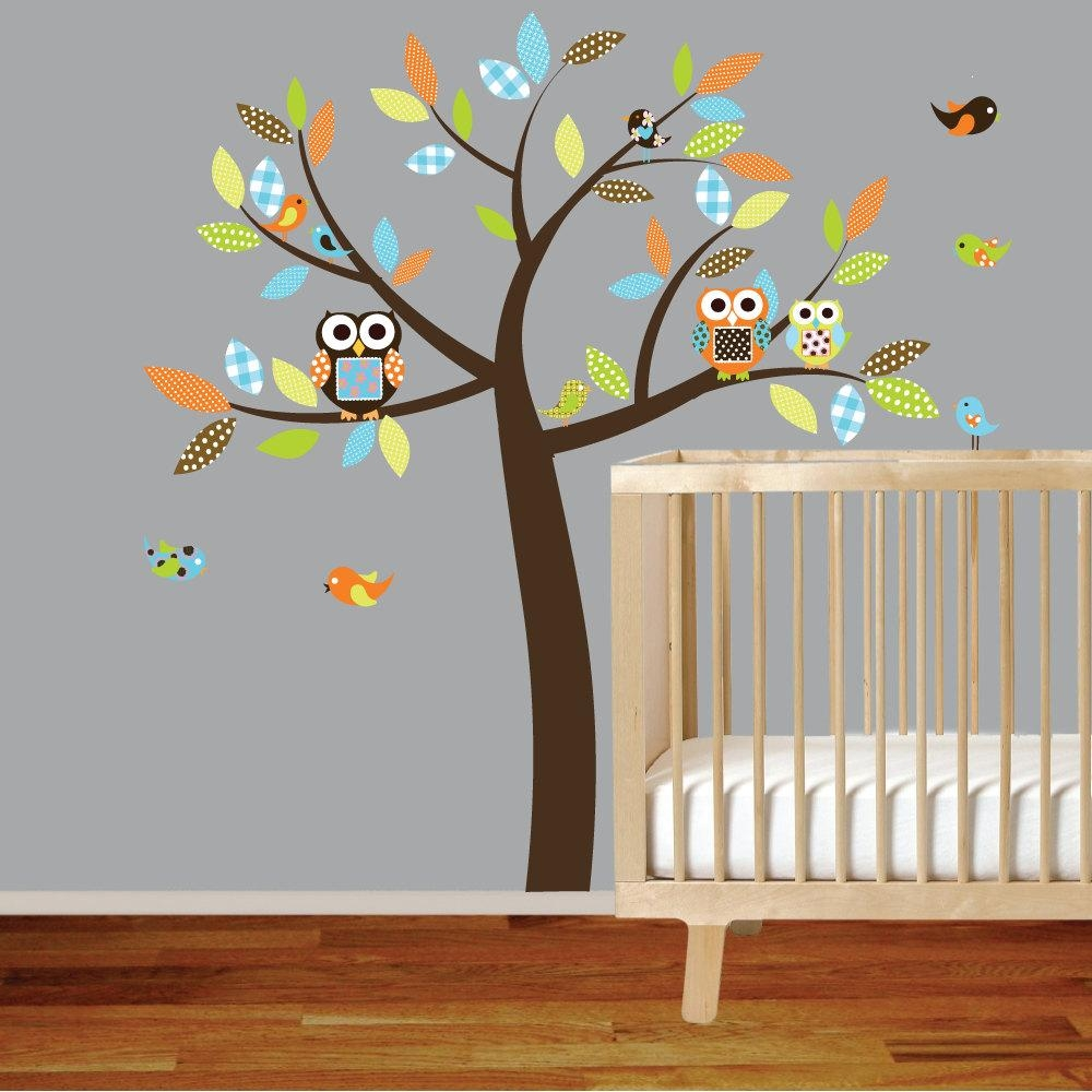 20 top owl wall art stickers wall art ideas. Black Bedroom Furniture Sets. Home Design Ideas