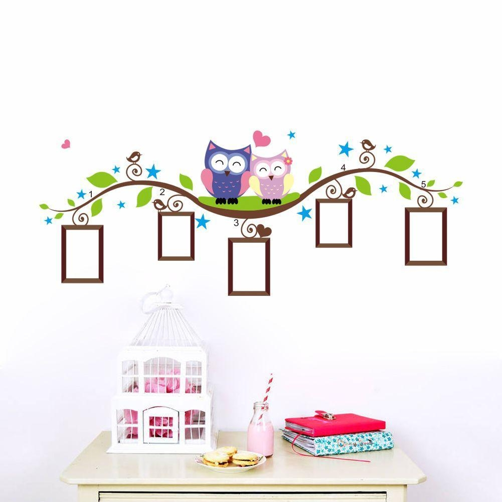 Owl Wall Stickers For Kids Room Decorations Animal Decals Bedroom For Owl Wall Art Stickers (View 20 of 20)