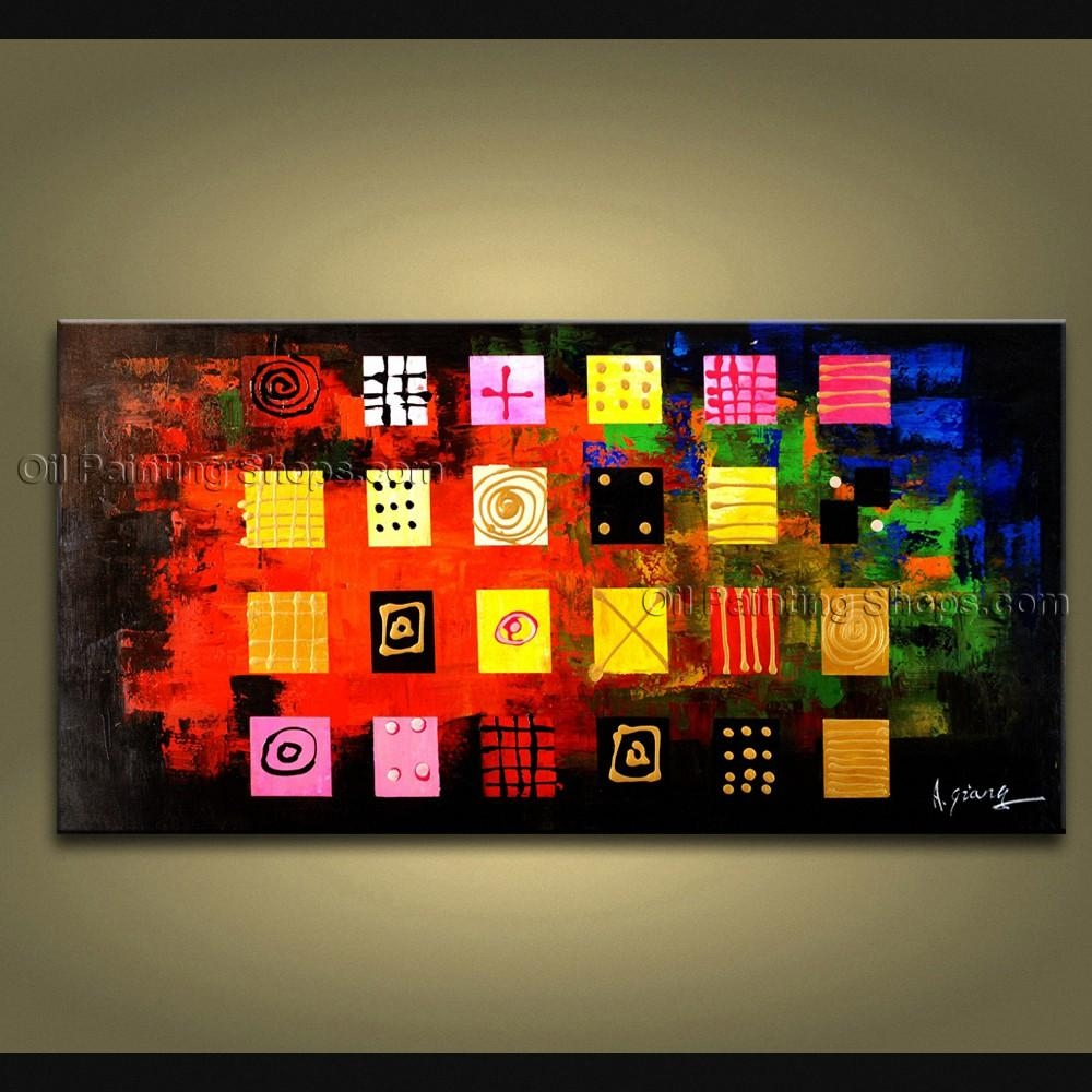 Painted Astonishing Modern Abstract Painting Wall Art Gallery Wrapped Inside Electronic Wall Art (Image 14 of 20)