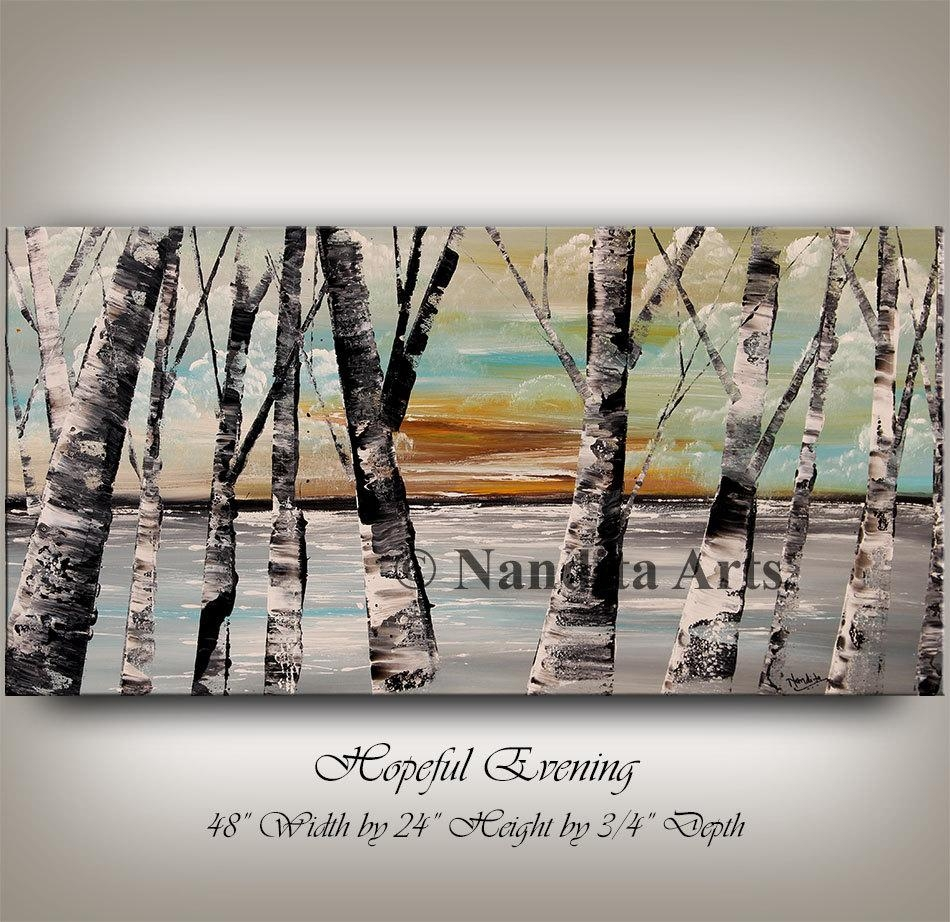 Painting Aspen Tree Painting Birch Tree Art Autumn Birch Regarding Aspen Tree Wall Art (View 8 of 20)