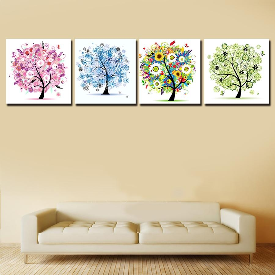 Painting Canvas Wall Art Picture Home Decoration Living Room Intended For Vibrant Wall Art (Image 14 of 20)