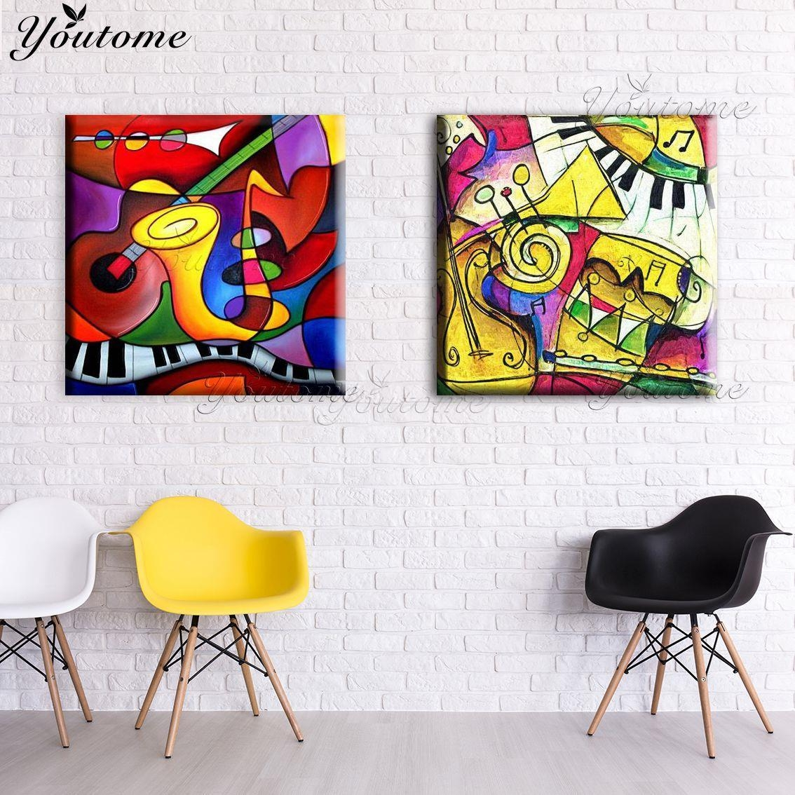 Painting Musical Instruments Promotion Shop For Promotional With Musical Instrument Wall Art (View 17 of 20)
